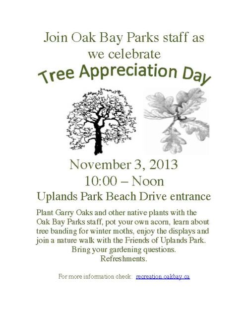 Tree Appreciation Day Poster Nov 2013