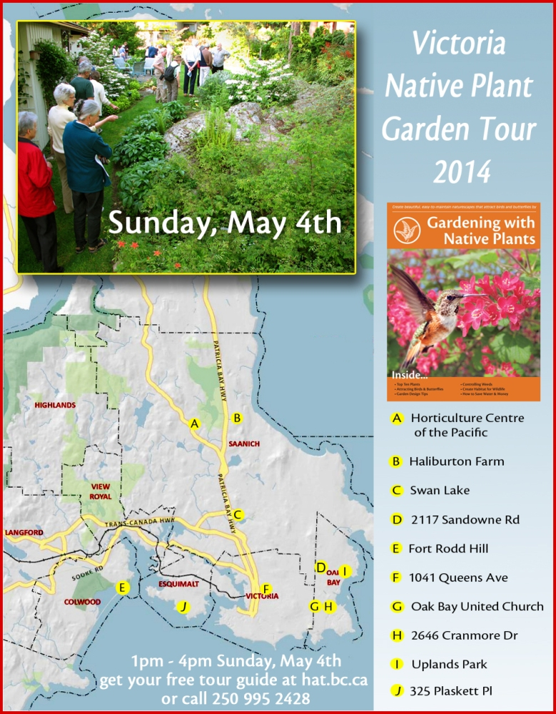 Uplands Park Featured in 2014 Victoria Native Plant Garden Tour - May 4, 2014 [1- 4pm]