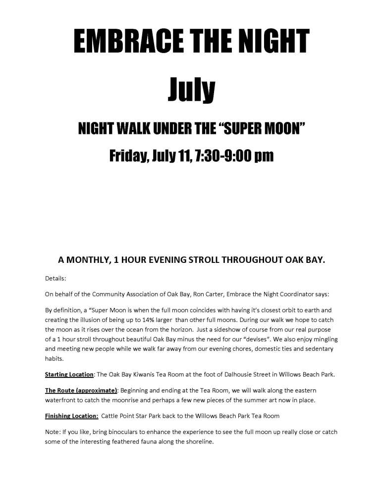 "NIGHT WALK UNDER THE ""SUPER MOON"" - Cattle Point - July 11-2014  (2/2)"