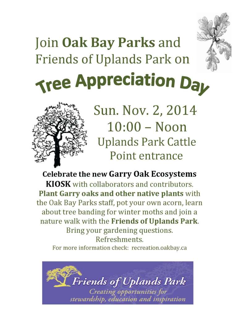 New Uplands Park KIOSK Celebrated on Tree Appreciation Day  -  Sunday November 2, 2014